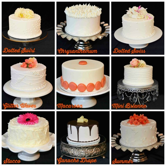 Signature Cake finish collage