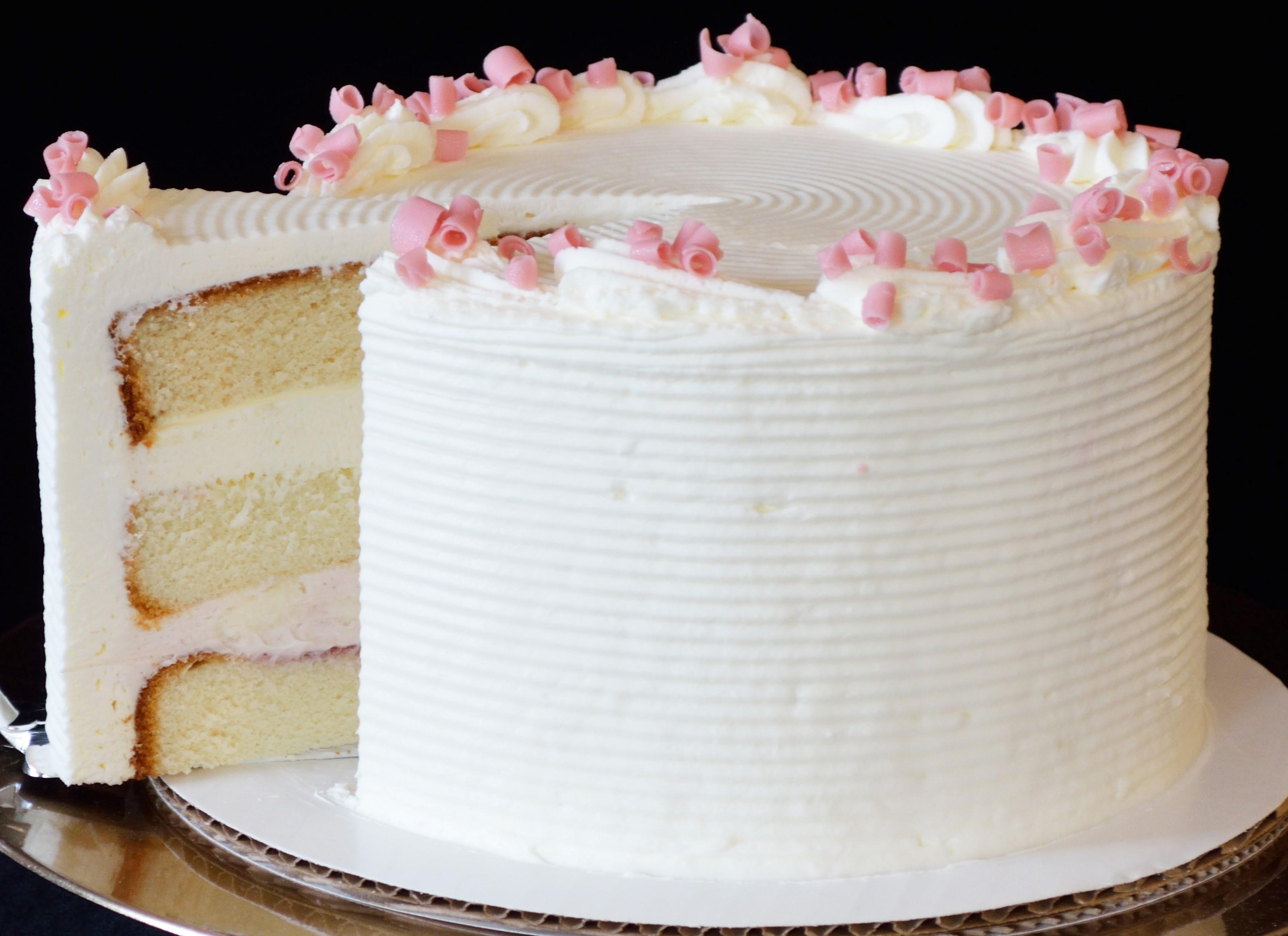 Lemon Cake With Strawberry Mousse Filling