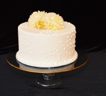"""10"""" Gold Rimmed Centerpiece Stand"""