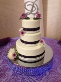 Smooth with Ribbon and Rhinestones